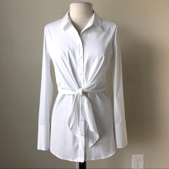 38d1812c White House Black Market Tops | White Poplin Tie Front Shirt | Poshmark